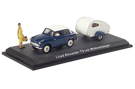 Schuco 02205 - Lloyd Alexander TS mit Wohnanhänger und Figuren 1:43 - limited Edition